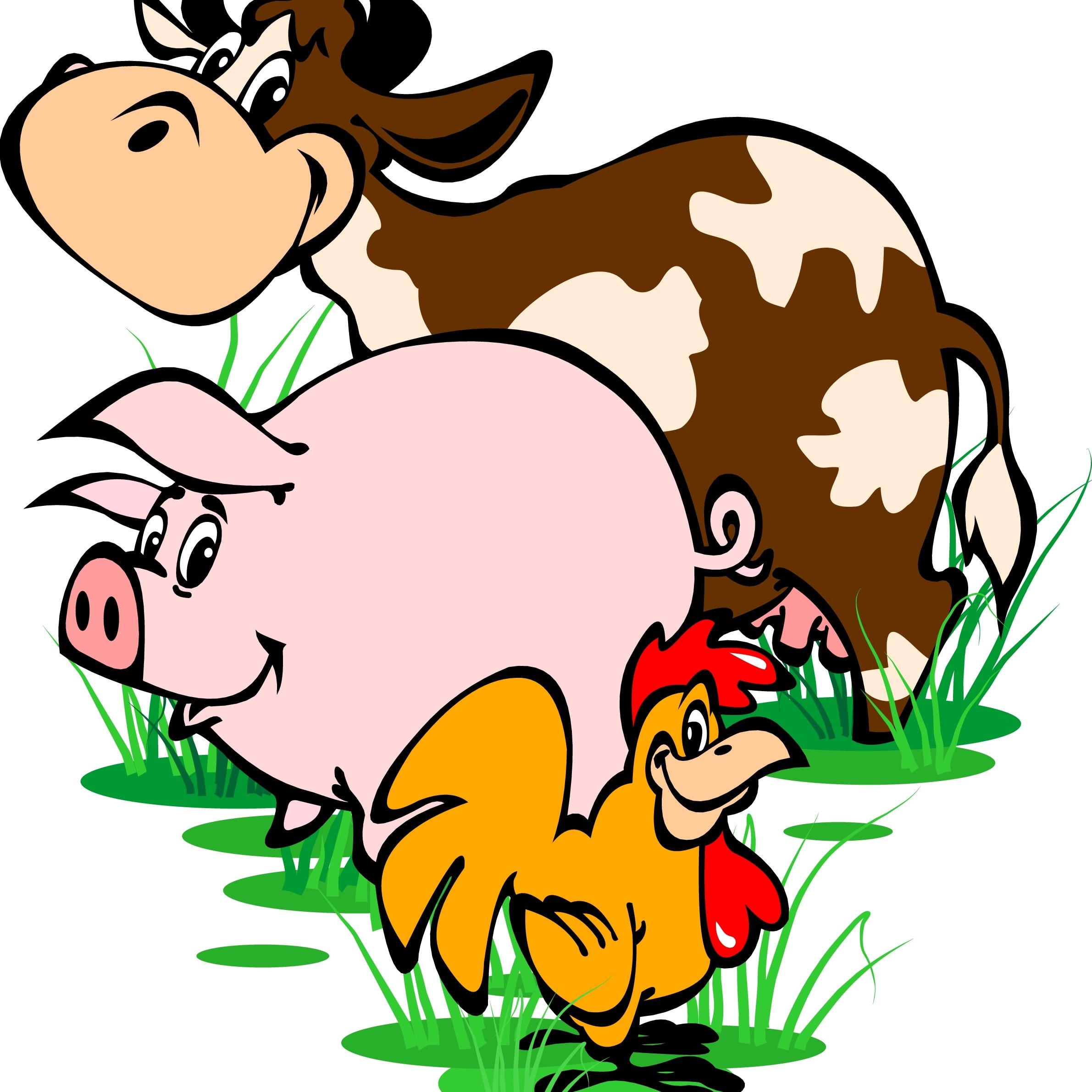 Landbrug illustration med dyr