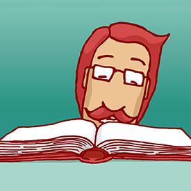 Illustration af læsende borger, læsevejledning