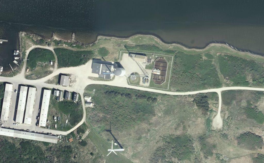 Luftfoto af Thorsminde Renseanlæg
