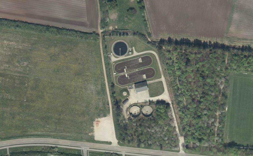 Luftfoto af Ulfborg Renseanlæg
