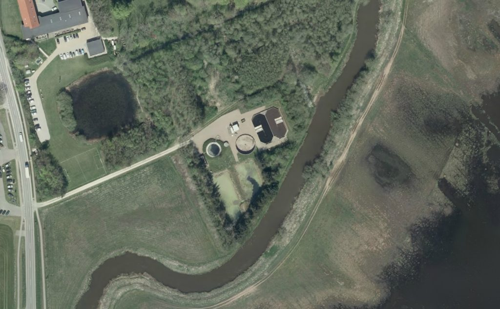 Luftfoto af Vemb Renseanlæg