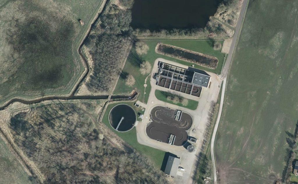 Luftfoto af Vinderup Renseanlæg